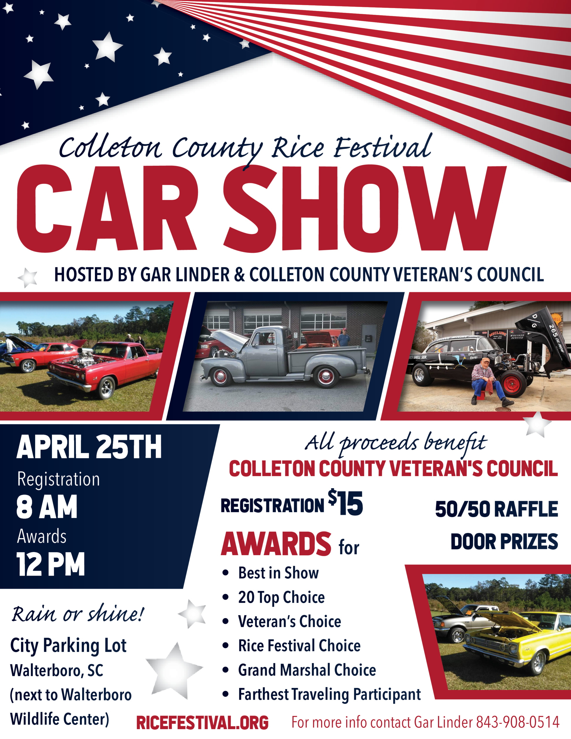 Rice Festival Car Show Flyer 2020